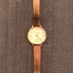 Fossil Jacqueline Leather Watch